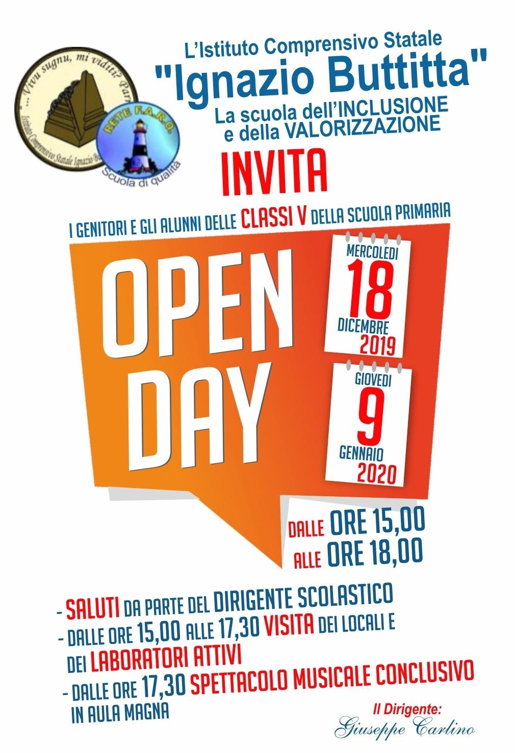 """Pronti a conoscere la nostra scuola? Open Days per l'I.C.S. """"Ignazio Buttitta"""""""